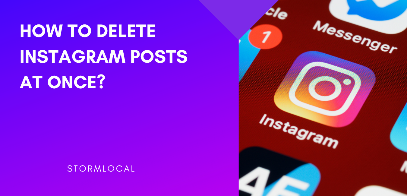 How to delete instagram posts at once.? best trick